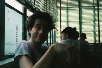 With Davide at Mido Cafe, Yau Ma Tei