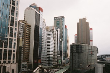 View from ifc mall, Central. This is like my top favourite photo from this trip