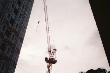 Just me, chasing cranes everywhere I go, Shek Kip Mei