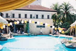 Yusuf's aqiqah by the pool
