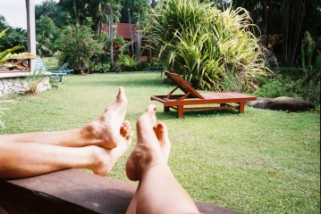 Chilling at the verandah