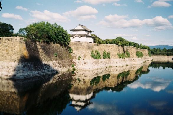 En route to Osaka Castle